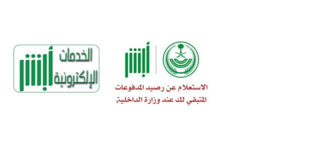 Photo of الاستعلام عن رصيد المدفوعات عبر موقع أبشر ووزارة الداخلية السعودية